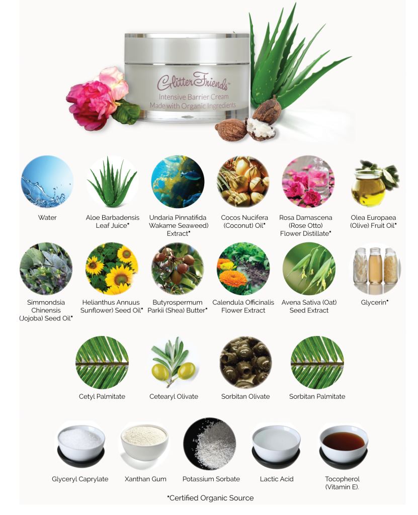 List Skin Care Ingredients Organic Natural soothing relief