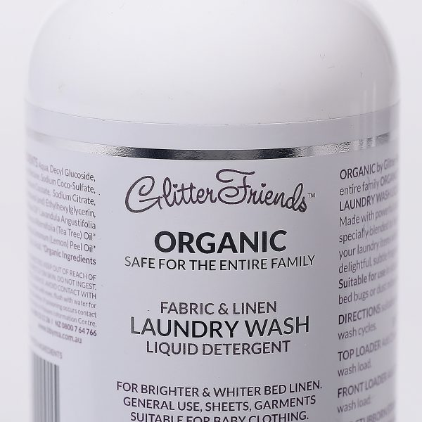 FABRIC + LINEN LAUNDRY WASH LIQUID DETERGENT made with Organic Ingredients 500ml