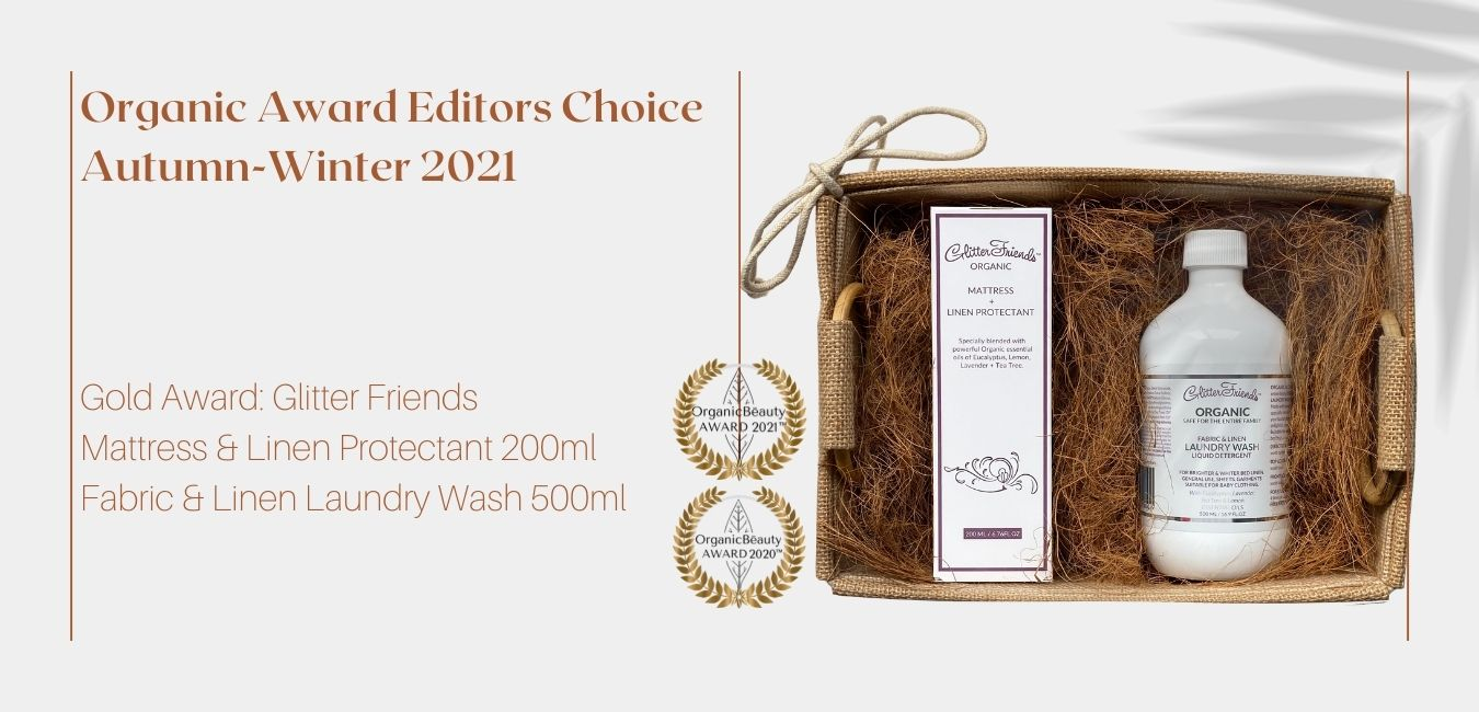 natural hessian gift with a room / linen spray and natural laundry washing liquid for allergy suffers